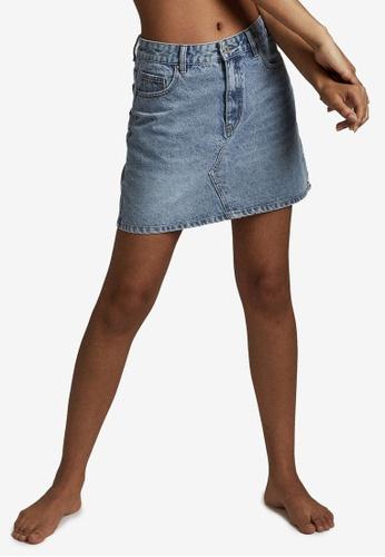 Cotton On blue The Classic Denim Skirt C8889AA2EBD64EGS_1