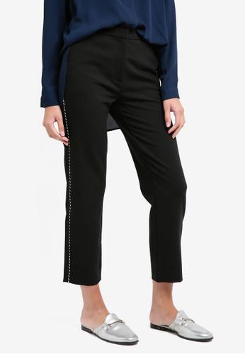 Selected Femme black Sfnorra Cropped Pants D52DCAA8D9F348GS_1