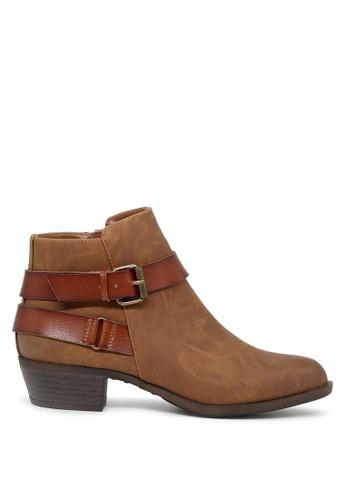 London Rag 褐色 Alice短靴 SH1680 F5D1CSHB90FFD7GS_1
