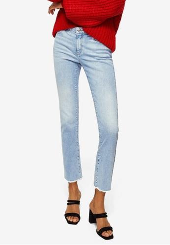 Mango blue Straight Cropped Jandri Jeans 200EEAA7FD7455GS_1
