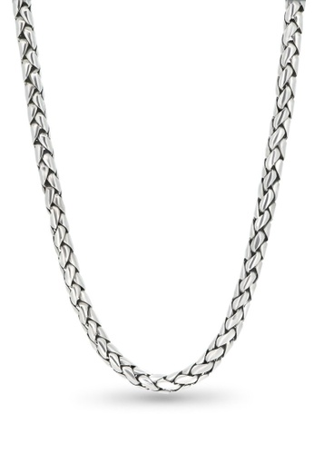 Jemocracy silver JEMOCRACY - Bullet Proof - chunky chain necklace in sterling silver 045C4ACD2DD3B0GS_1