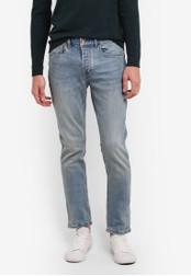 Topman blue Light Blue Wash Stretch Slim Jeans TO413AA0S5L6MY_1