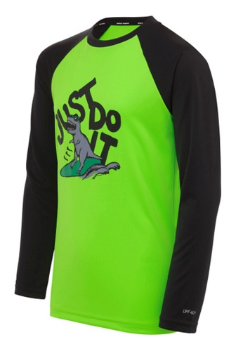 Nike green Nike Jdi Boy's Dinosaur Long Sleeve Hydroguard 0D5DCAA08F11A5GS_1