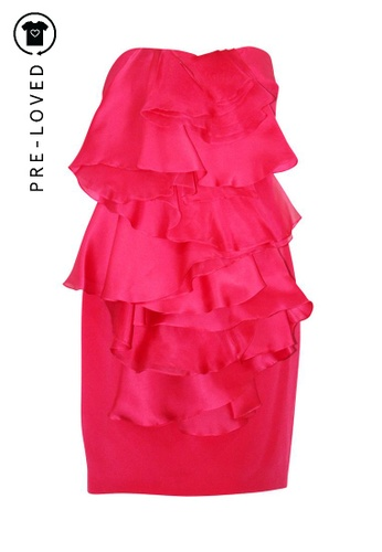 Notte By Marchesa pink Pre-Loved notte by marchesa Fuchsia Purple Strapless Cocktail Dress DD63FAAE56A3B5GS_1