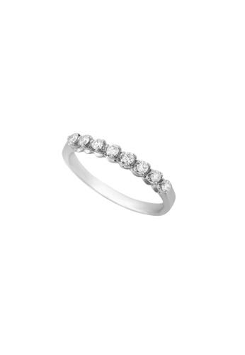 TOMEI white TOMEI Agleamed in Sparkling Virtuosity Ring, Diamond White Gold 375 (R3873) 03EFFACB8FF8C3GS_1