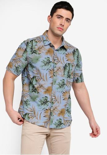 3b5a1d996f72 Buy MANGO Man Regular-Fit Tropical Print Shirt | ZALORA HK