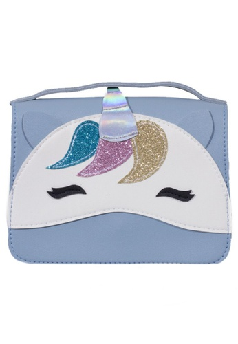 Adkidz blue Adkidz Unicorn Crossbody Bag D48A2KCFFFB908GS_1