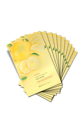 Face Republic Brightening Lemon Extract Face Mask 10pcs BE9A6BE6BC4C8AGS_1