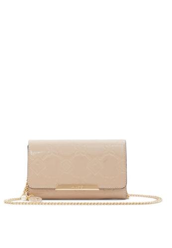 ALDO beige Iconic Sleek Wallet On Chain C955EACC26FAB8GS_1