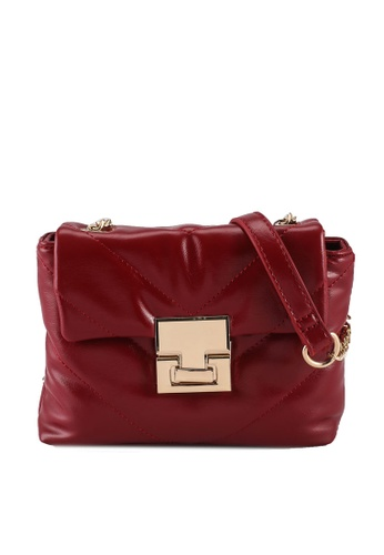 Miss Selfridge red Red Quilted Bag B40BBACA234923GS_1