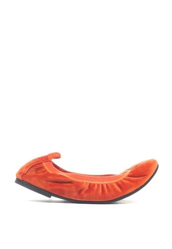 M&G orange Charlotte Flats - Mi Amore by M&G 93BA2SH06B9877GS_1