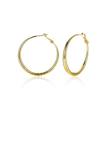 Glamorousky silver Simple and Fashion Plated Gold Geometric Circle Earrings 3F08AACFE69F5DGS_1