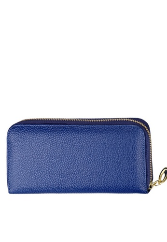 Twenty Eight Shoes blue VANSA Top Layer Cowhide Bi-Fold Long Wallet VBW-Wt906 9DBE9ACB9CB4FAGS_1