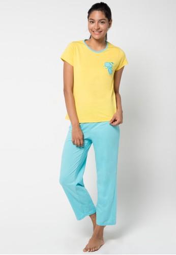 Puppy yellow and blue Kirana Sleepwear PU643AA18KCBID_1