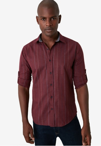Trendyol red Pocketless Slim Fit Shirt 82ACCAA8D625E6GS_1
