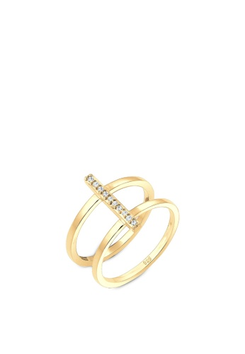 ELLI GERMANY gold Ring Geo Crystals Gold Plated 0AE68AC4889AB7GS_1
