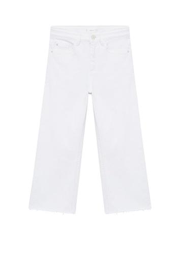 MANGO KIDS white High Waist Culotte Jeans 02B95KA505A43EGS_1