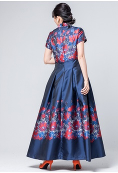fcf6d58f6d Evening by Karen Liu Traditional Chinese Dress Inspired New Floral Print  Qipao HK  1