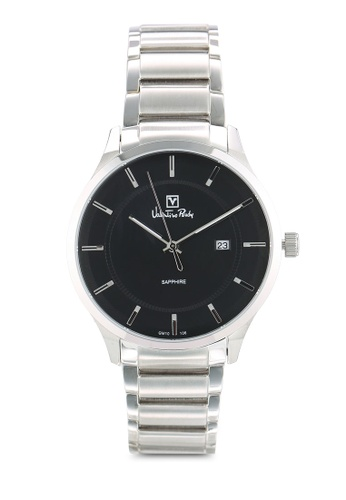 Valentino Rudy silver Valentino Rudy VR106-1332 Silver and Black Watch VA909AC0RBEMMY_1