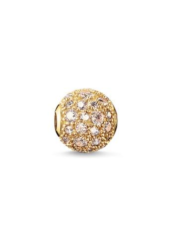 "THOMAS SABO gold Bead ""crushed pavé"" 01BB2AC6090E1FGS_1"