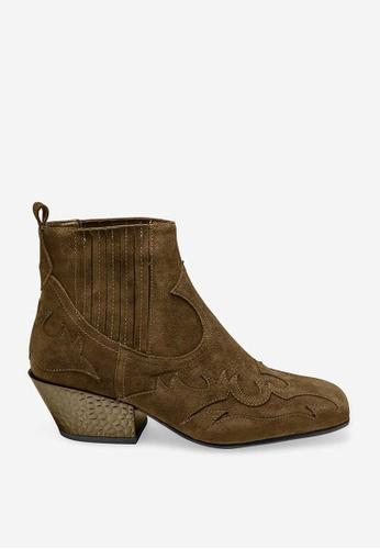 ASH 褐色 Ginger Bis - 棕色浮凸圖案靴 090FESHD1E987AGS_1