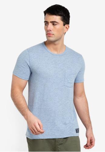 0f9865c7d5ab49 Abercrombie & Fitch blue Short Sleeve Crew Neck T-Shirt 3E64CAA4BB14B9GS_1