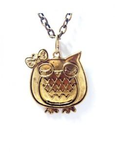 Vintage owl charm pendant