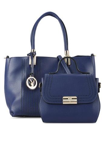 PLAYBOY BUNNY blue 2 in 1 Bag Set PL604AC0RX8KMY_1