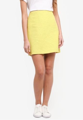 ESPRIT yellow Woven Mini Skirt D4262AA6641BFBGS_1