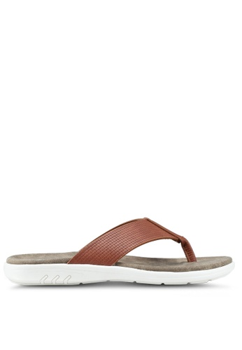 Bata brown V Strap Sandals 7C685SHEB0C1AEGS_1