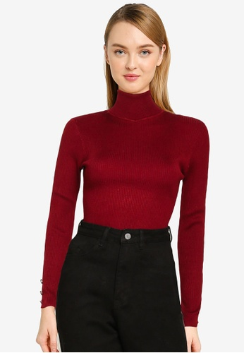 MISSGUIDED red Roll Neck Bodysuit F620EAAEDFFC5DGS_1