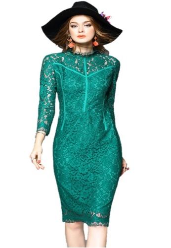 Sunnydaysweety green Elegant Lace One-piece Dress UA1109030GR 1EF37AA2095127GS_1