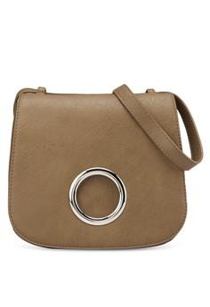 Circular Metal Flap Saddle Bag