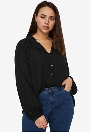 Vero Moda black Poel Shirt Curve 89852AA5D4FA4BGS_1