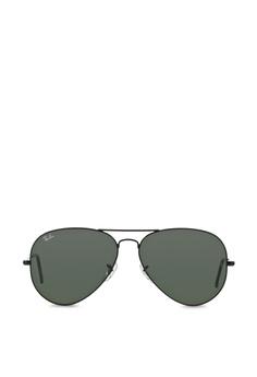 d9e214b9ec Ray-Ban black Aviator Large Metal II RB3026 Sunglasses RA370GL24SAXSG 1