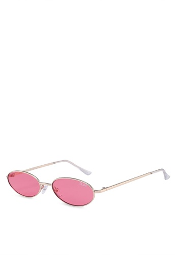 Quay Australia red and gold Clout Sunglasses ED423GL26C3FFDGS_1