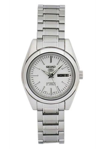 Seiko silver Seiko 5 Silver Stainless Steel Watch 512CFACA2450DDGS_1