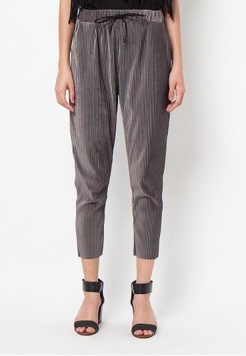 Meitavi's Plisket Velvet Baggy Pants - Grey