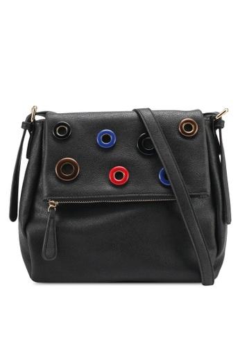 Perllini&Mel black Faux Leather Sling Bag PE444AC0SJ0AMY_1