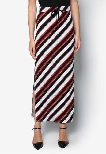 多色條紋長裙, 服zalora 心得 ptt飾, 服飾