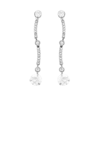 Glamorousky silver Simple Earrings with Silver Austrian Element Crystal C738BAC21C16A8GS_1