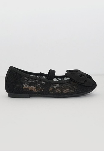 Treehouse black Lace Ballerina Flat 5A279KS8571B83GS_1