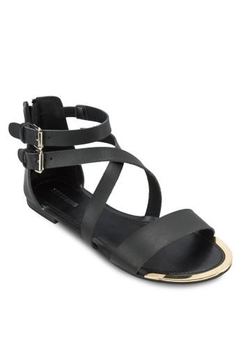 Tazalora 心得rkastad 雙踝帶平底涼鞋, 女鞋, 涼鞋