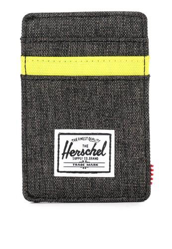 Herschel black and multi Raven Wallet RFID 02E22AC92C5566GS_1
