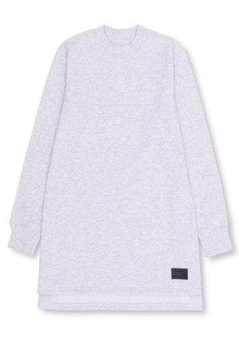 MUSIUM DIV grey Embellished long sweatshirt 4E867AACFBA347GS_1