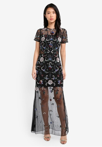 Miss Selfridge multi Premium Embroidered Floral Maxi Dress MI665AA0SLEJMY_1
