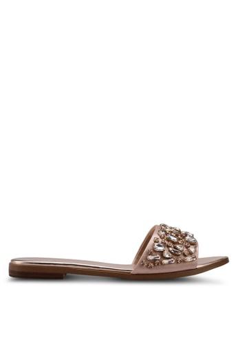 ALDO beige Fanceen Flat Sandals 7B385SHD324915GS_1