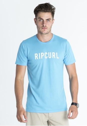 Rip Curl Free Boardwalk Tee Men Blue