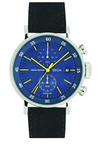 ZECA black and yellow and blue Genoa Edition Male Analogue ZE260AC00SKHSG_1