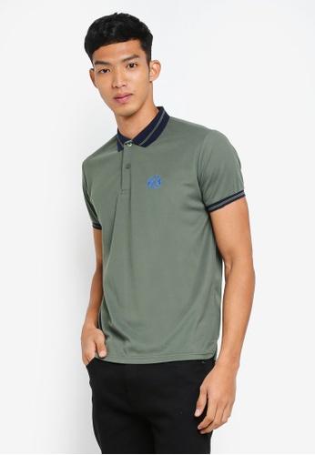 Fidelio 綠色 簡約短袖POLO衫 5D50AAA8DA9503GS_1